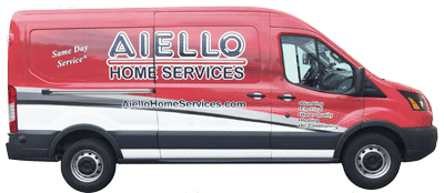 Aiello Home Services Red Van