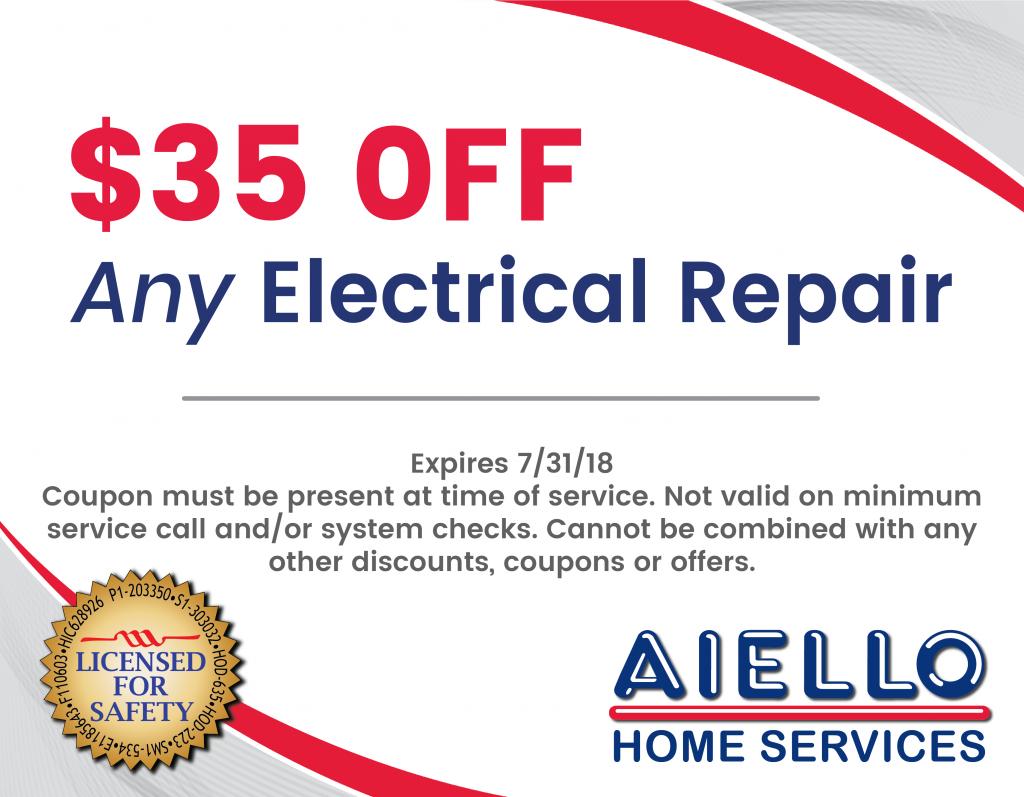 Discounts on Aiello Electrical Repair