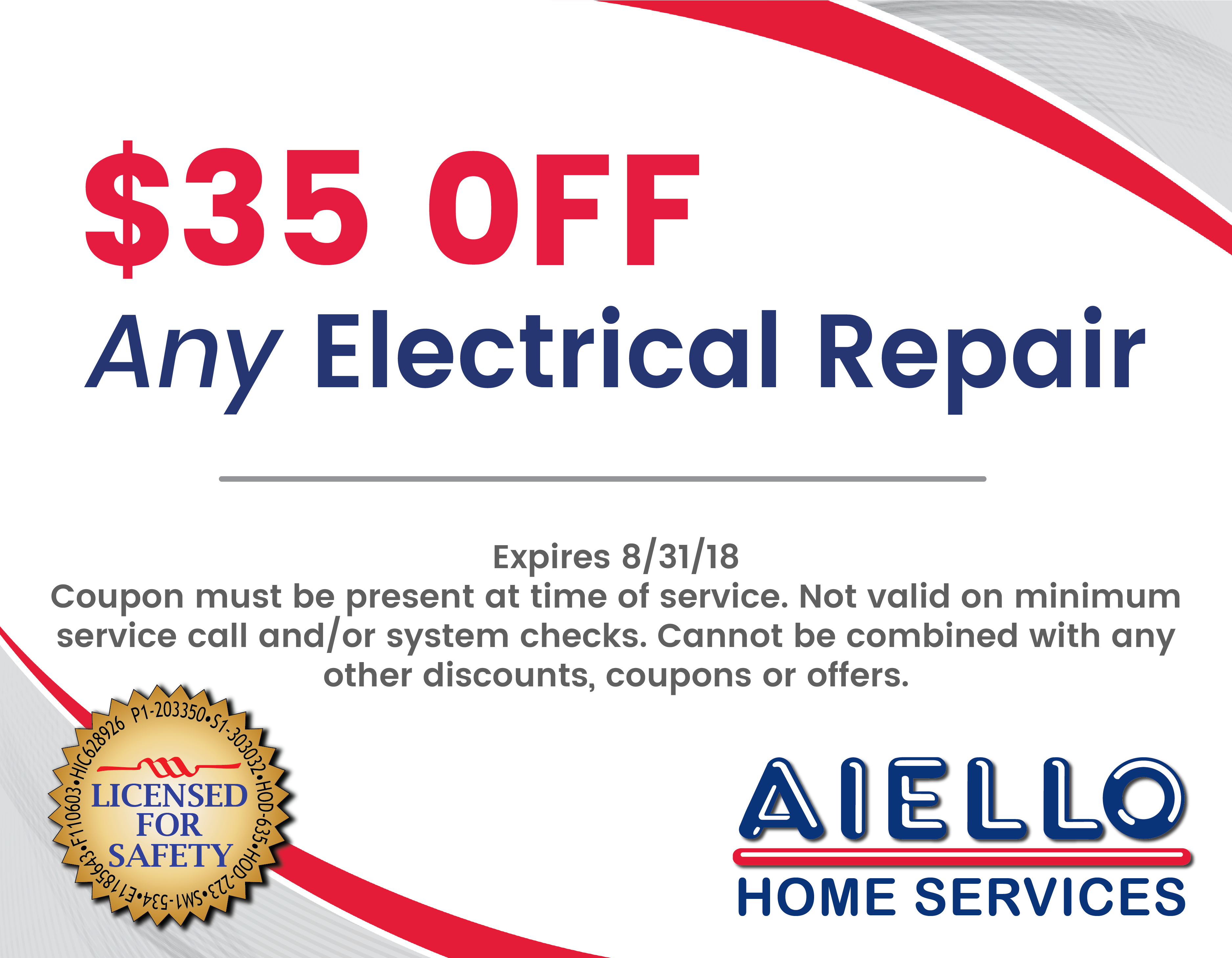 Electrical Discounts Aiello Home Services
